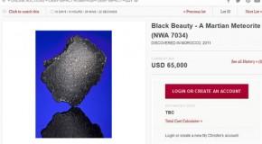 حراج شهاب سنگ مریخی «زیبای مشکی» (Black Beauty)